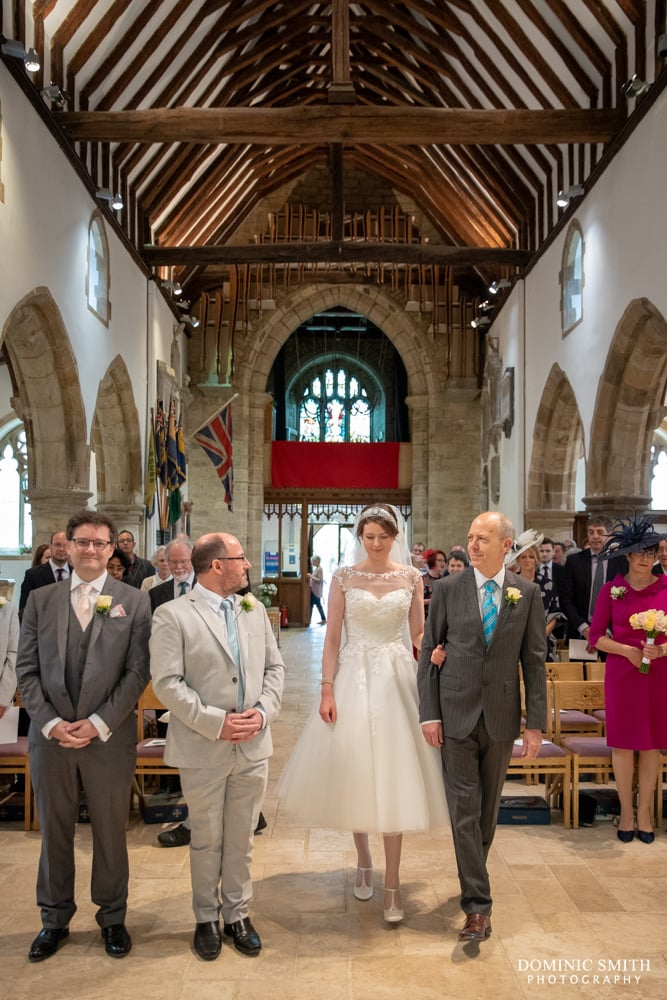 Wedding Ceremony at St Peters Church Henfield 1