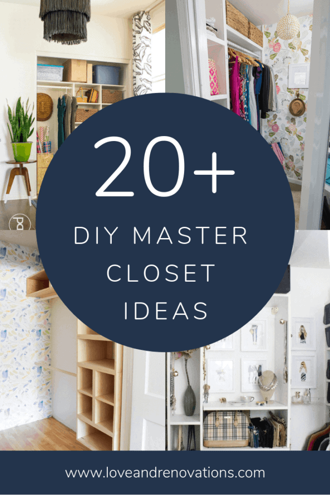master closet DIY ideas collage