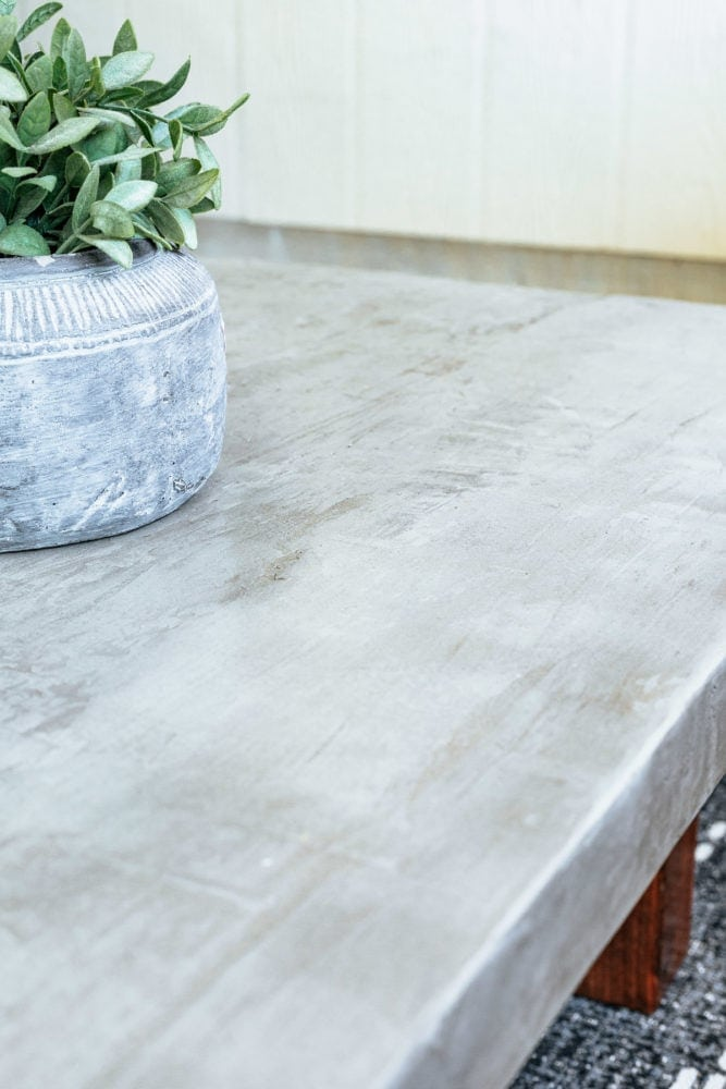 finished concrete table top