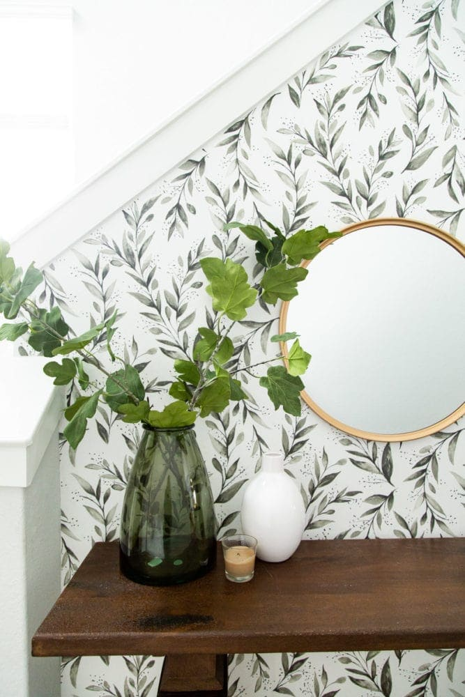 details of entryway makeover