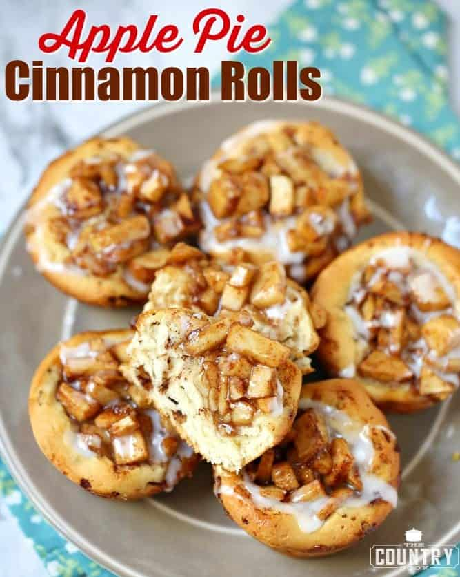 Apple Pie Cinnamon Rolls recipe from The Country Cook