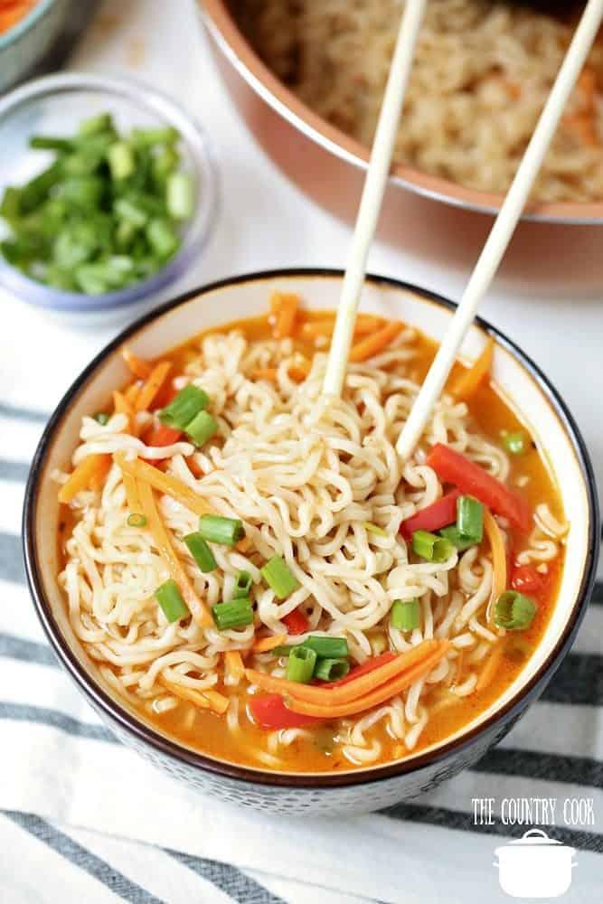 Easy Ramen Noodle Soup Bowls