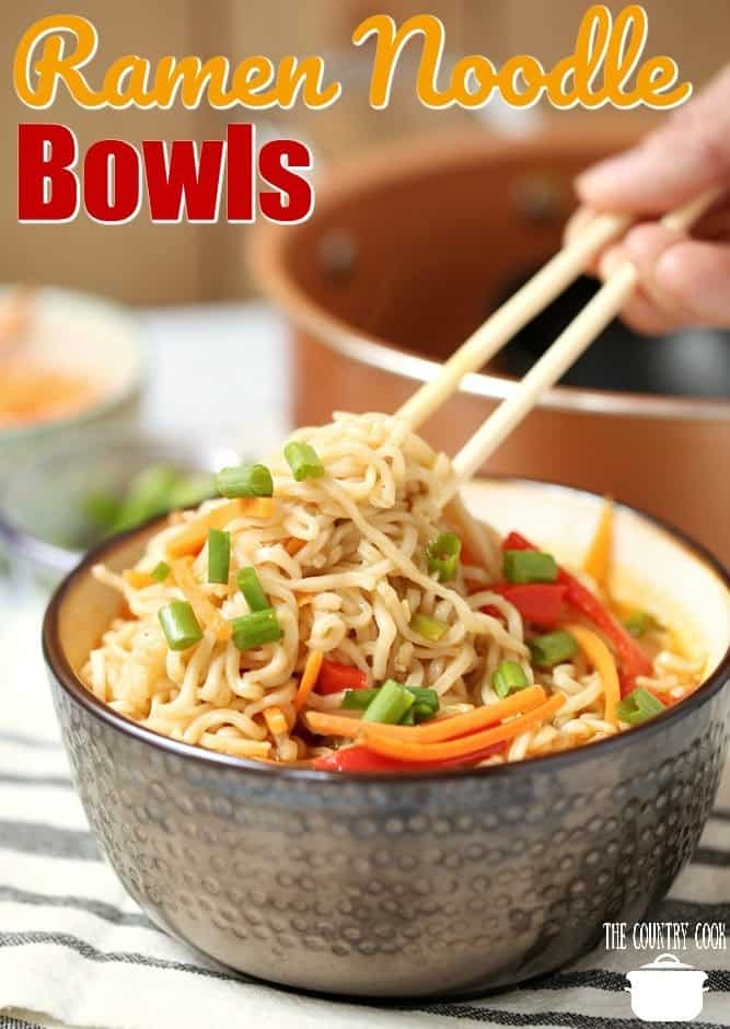 Ramen Noodle Bowls recipe from The Country Cook