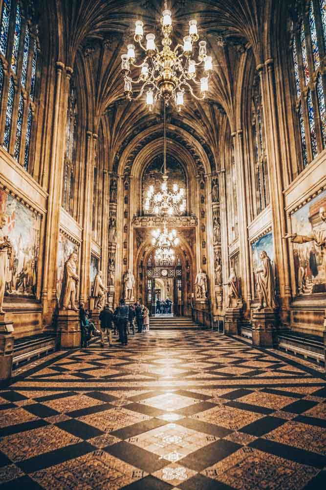 Inside St Stephen's Hall, Houses of Parliament