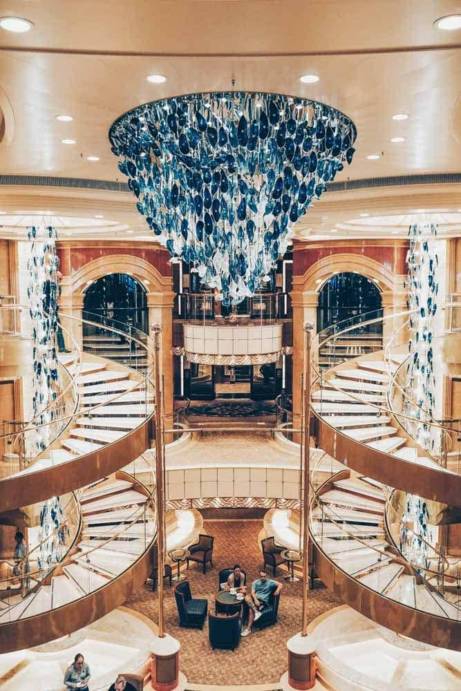 The central atrium on the Sky Princess
