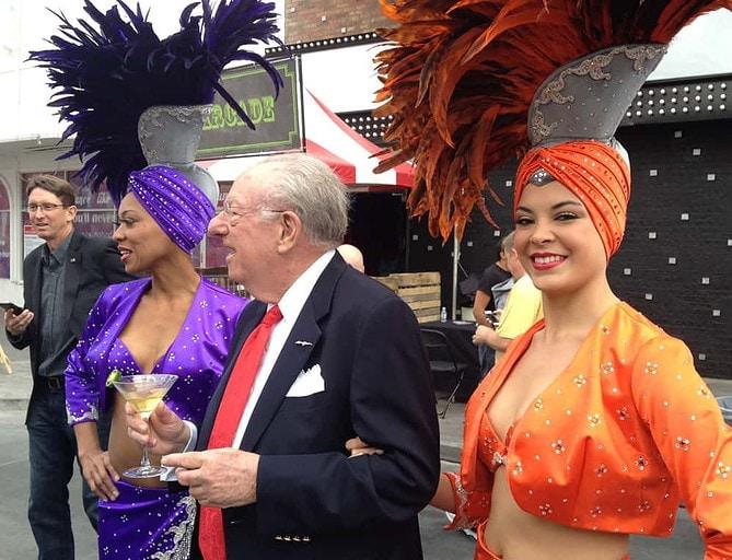 Oscar Goodman and Ladies, Great Festival of Beer, Las Vegas, NV