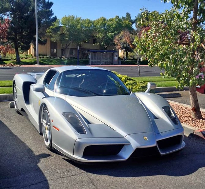 Silver Ferrari Enzo at Italian Sports Car Day 2013. Las Vegas, NV