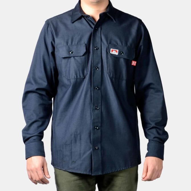 Flame-Resistant Button-Up Shirt – Navy