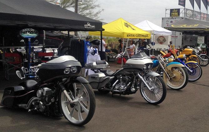 Baggers at Arizona Bike Week 2014