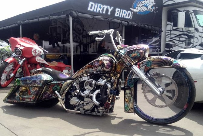 Dirty Bird Chrome Bagger at Bike Week 2014
