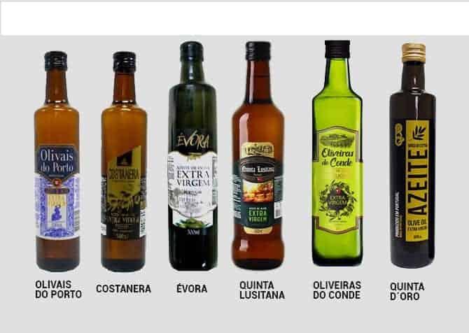 Marcas de Azeite que não podem ser vendidas segundo Ministério da Agricultura