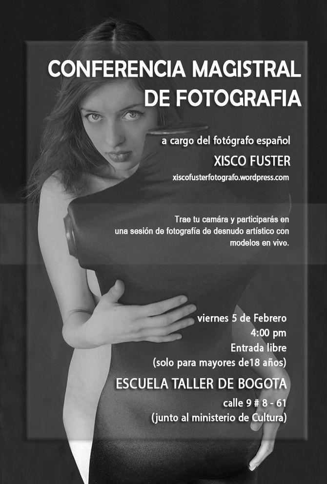 Cartel de la Conferencia Magistral de Fotografía de Xisco Fuster.