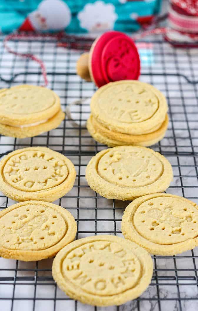 Stamped Almond Cookies (Vegan, Gluten-Free)