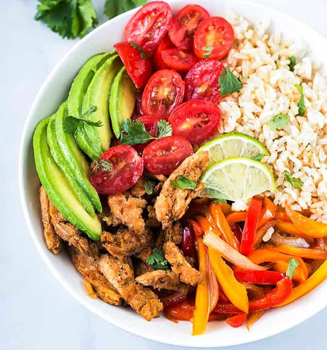 Vegan Fajita Rice Bowl