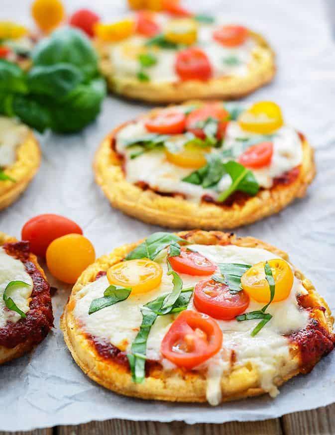 Waffle Pizzas (Gluten-Free, Vegan)
