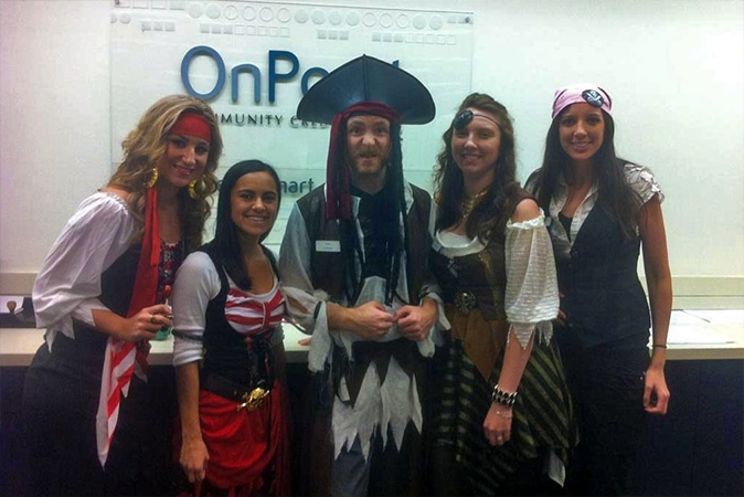 Kayley Edwards Halloween with the OnPoint team at Lloyd branch