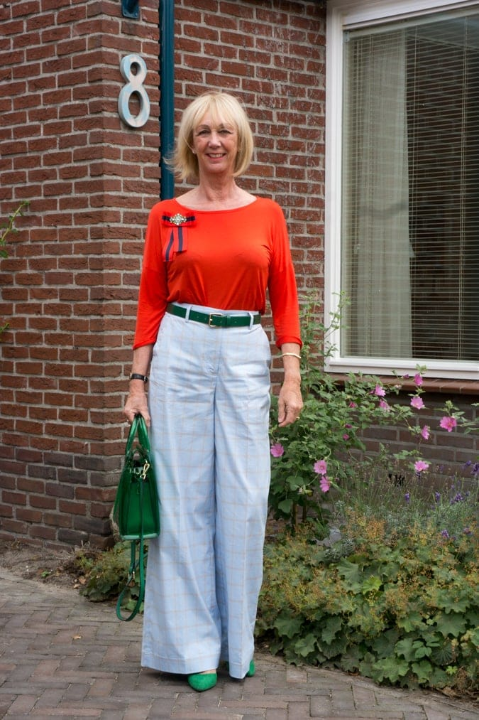 Color block your way to style - blue, green and red color black   40plusstyle.com