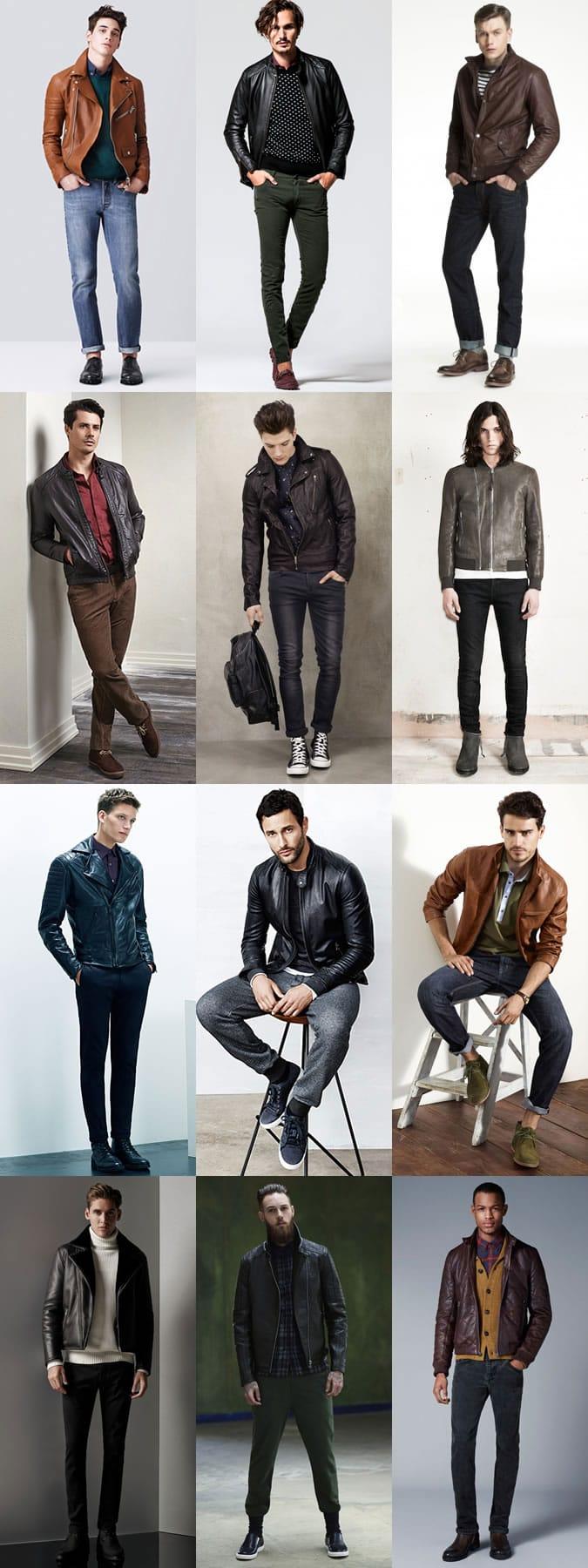 Look Book кожаных мужских курток