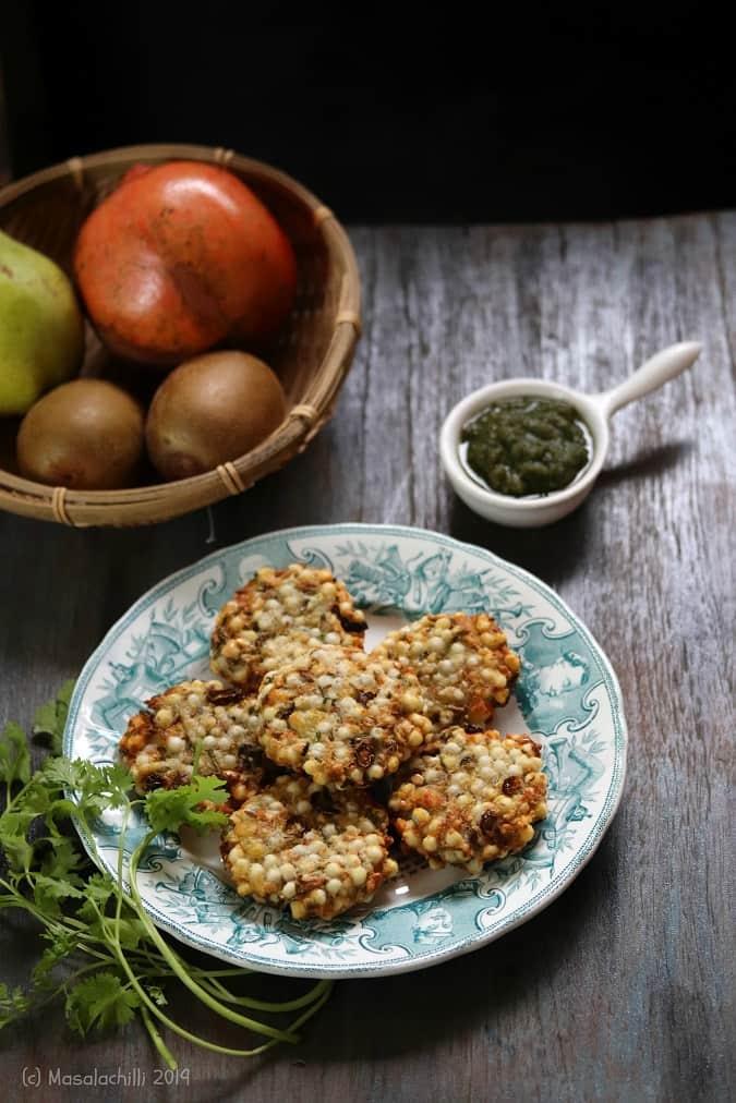 Sabudana Vada (Air Fryer Recipe)
