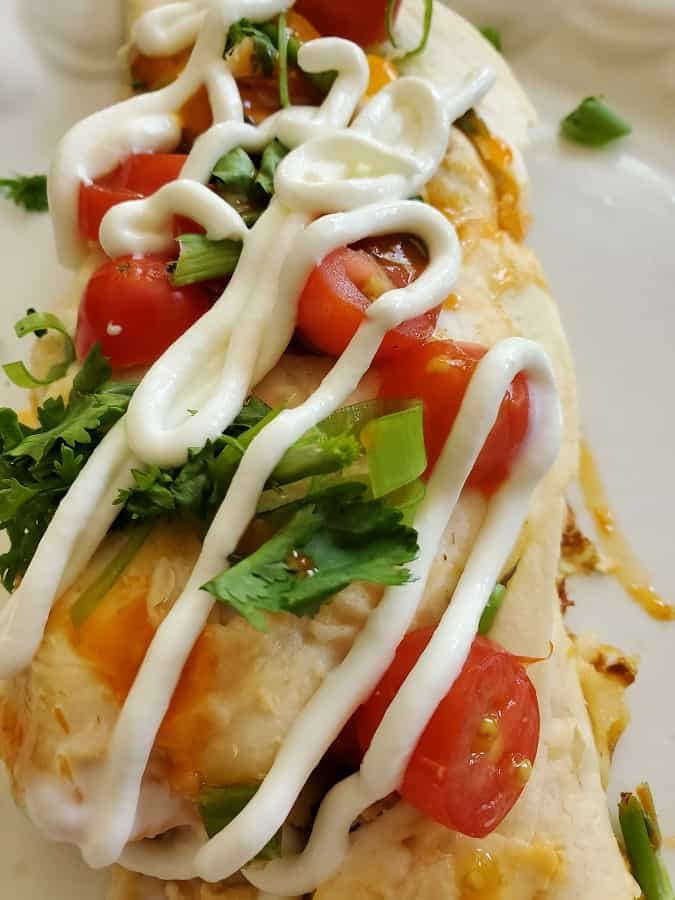 Sour Cream Chicken Enchiladas