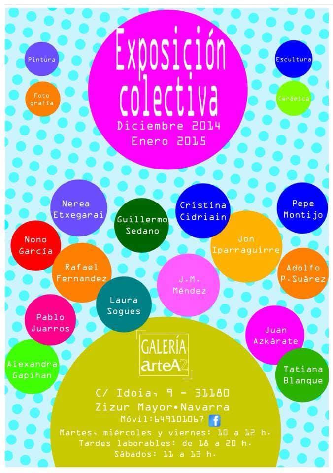 COLECTIVA en la galería ArteA2, en Navarra, 2012-2013.