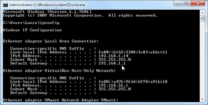 direccion ip router