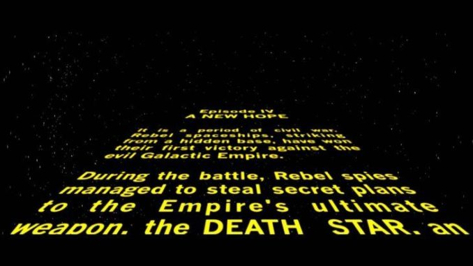 Star Wars intro
