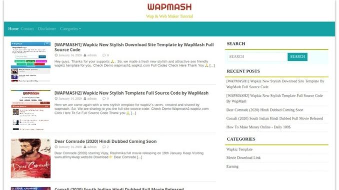 wapmash3 desktop view