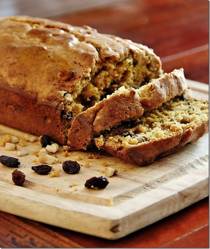 This walnut raisin pumpkin bread will bring joy to any kitchen.