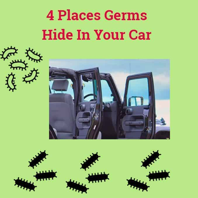 4 places germs hide in your car, clean, vacuum, wipe, saniitize