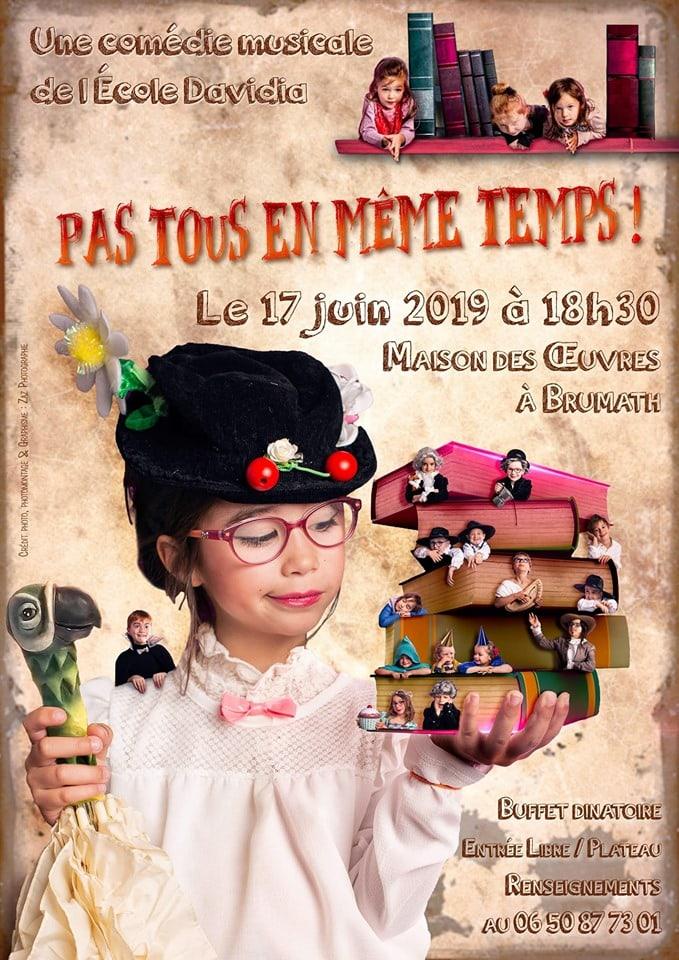 affiche spectacle davidia juin 2019