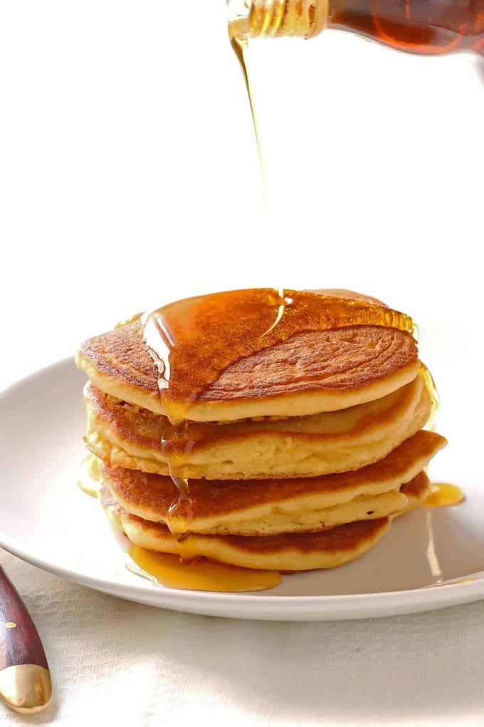 Coconut Flour Pancakes with Syrup