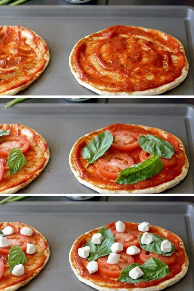Margherita Pizza Pitas | honeyandbirch.com
