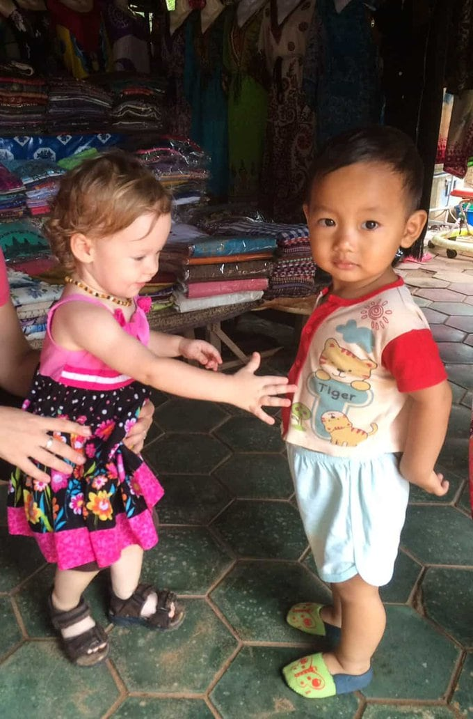 Olivia and Toddler in Cambodia
