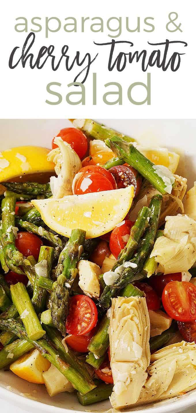 Asparagus and cherry tomato pin