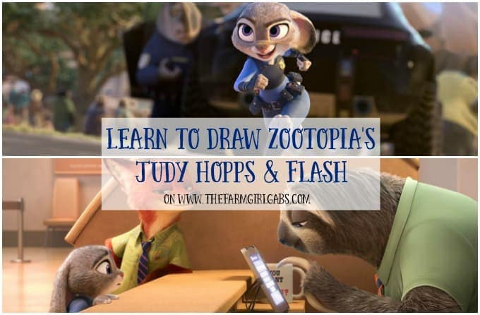 Learn To Draw Judy Hopps And Flash from Zootopia