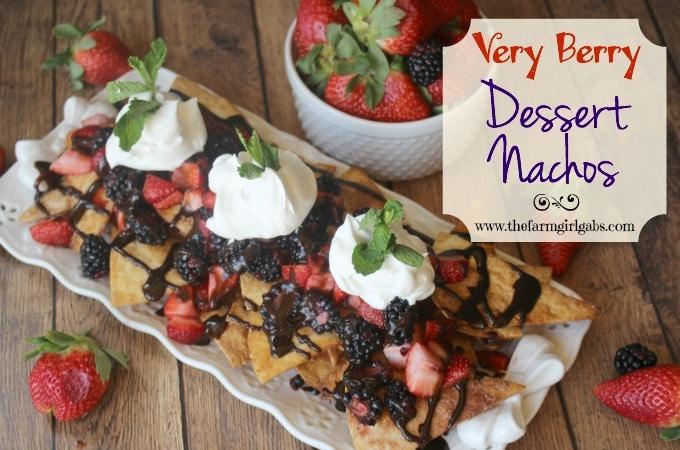 Very Berry Dessert Nachos