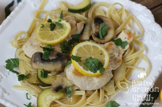 Lemon Chicken with Fettuccine
