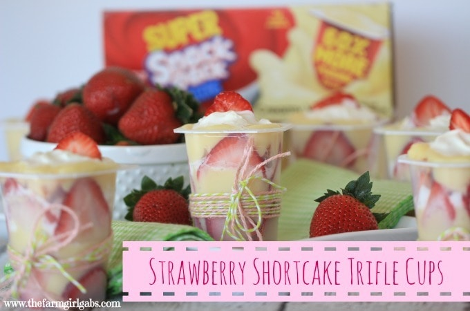 Strawberry Shortcake Trifle Cups