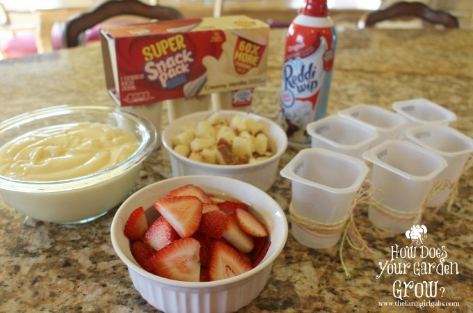 Strawberry Shortcake Trifle Cups - Ingredients