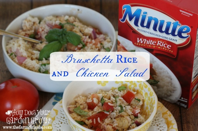 Bruschetta Rice and Chicken Salad
