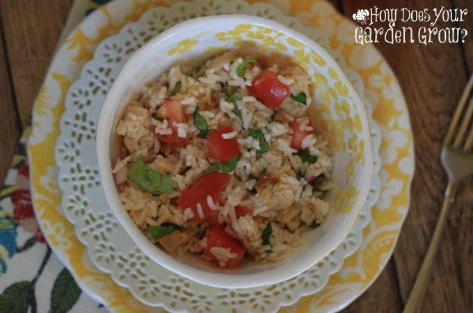 Bruschetta Rice and Chicken Salad - Feature 3