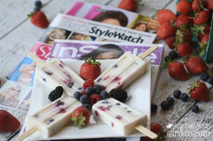 Berry Yogurt Popsicles - 4