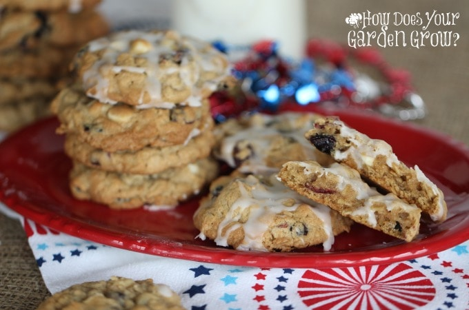 Red White Blue Oatmeal Cookies Feature 3