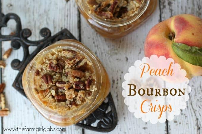 Peach Bourbon Crisps