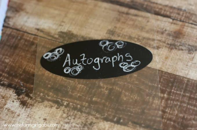 Easy Disney Autograph Book - Chalk Label