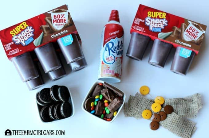 Candy Shop Pudding Cups - Ingredients