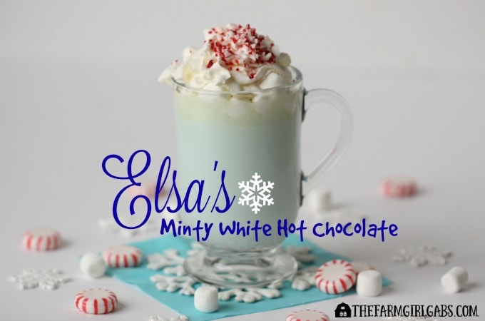 Elsa's Minty White Hot Chocolate