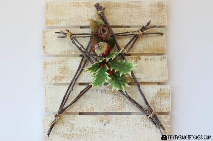Christmas Star Pallet Art Feature 1