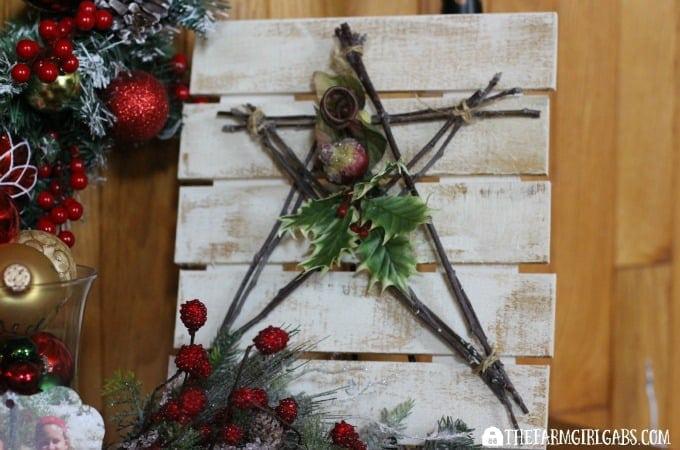 Christmas Star Pallet Art Feature 3